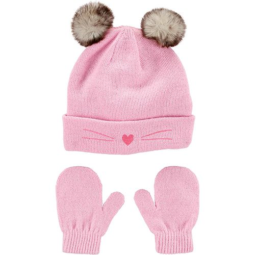 Baby Carter's Cat Hat & Mittens Set