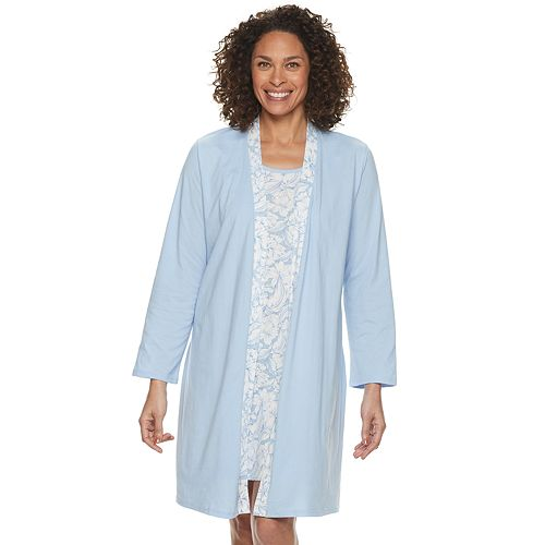 Women's Croft & Barrow® Sleepshirt & Robe Set