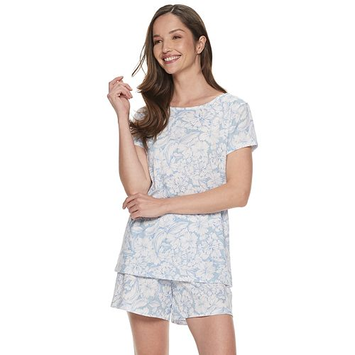 Women's Croft & Barrow® Tee & Shorts Pajama Set