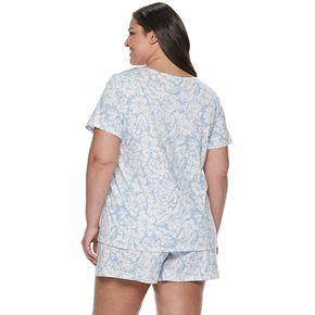 Plus Size Croft & Barrow® Tee & Shorts Pajama Set