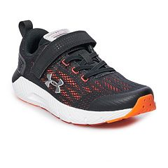 c20c4949f421d5 Under Armour Rogue AC Preschool Boys  Running Shoes. Jet Gray White Petrol  Blue ...