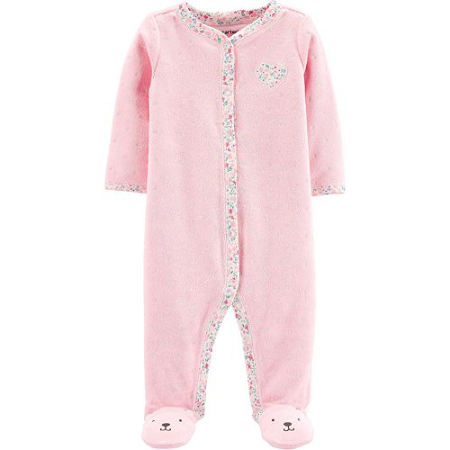 Baby Girl Carter's Floral Heart Sleep & Play
