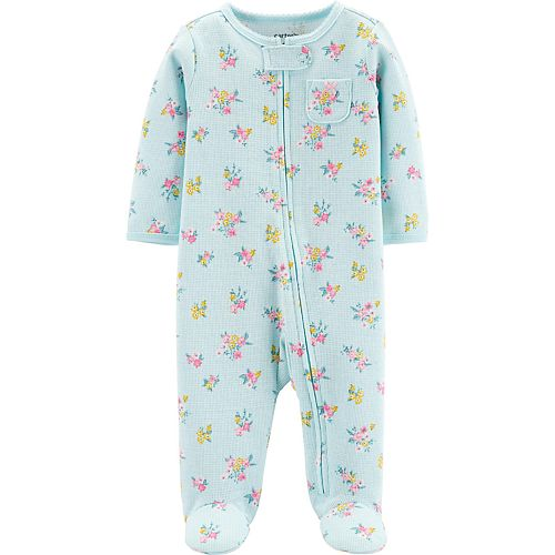 Carters Baby Girls Snap-Up Thermal Sleep /& Play Cat Print