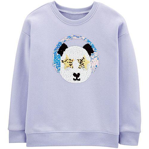 Girls 4-14 OshKosh B'gosh® Flip Sequin Panda Sweatshirt