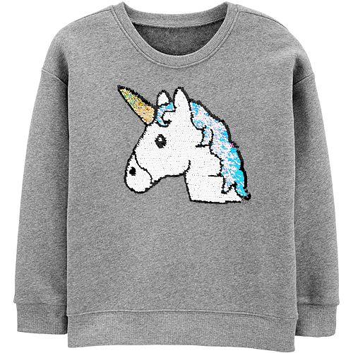 Girls 4-14 OshKosh B'gosh® Flip Sequin Unicorn Sweatshirt