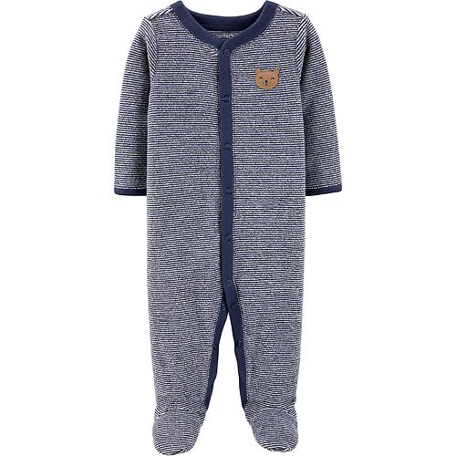 Carter's Striped Bear Snap-Up Terry Sleep & Play