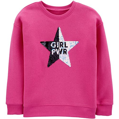 Girls 4-14 OshKosh B'gosh® Flip Sequin Star Sweatshirt
