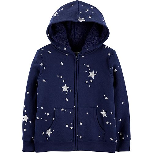 Girls 4-14 OshKosh B'gosh® Glitter Star Logo Hoodie