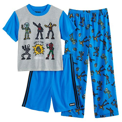 Boys 8-16 Fortnite Boogie 3-piece Pajama Set