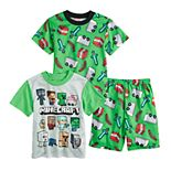 Boys 6-12 Minecraft 3-Piece Pajama Set