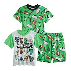 Boys 6-12 Minecraft 3-Piece Pajama Set
