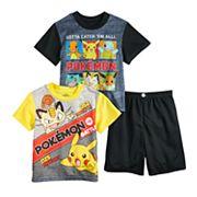 Boys 6-12 Pokemon Pickachu 3-Piece Pajama Set