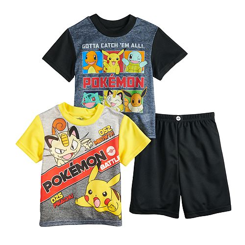 Boys 6-12 Pokemon Pickachu 3-Piece Pajama Set