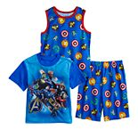 Boys 4-10 Avengers 3-Piece Pajama Set