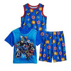 Boys 4-10 Avengers 3-Piece Pajama Set