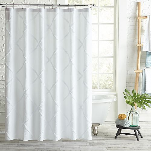 Peri Home Lattice Shower Curtain