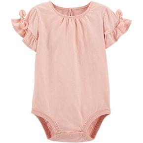 Baby Girl OshKosh B'gosh® Tie-Sleeve Bodysuit