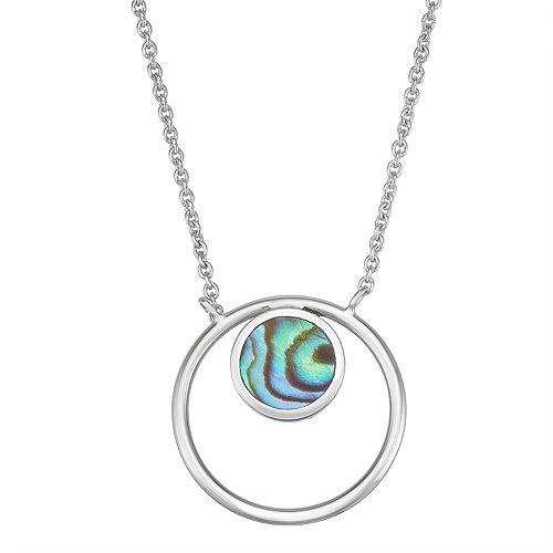 Harper Stone Circle Pendant Necklace