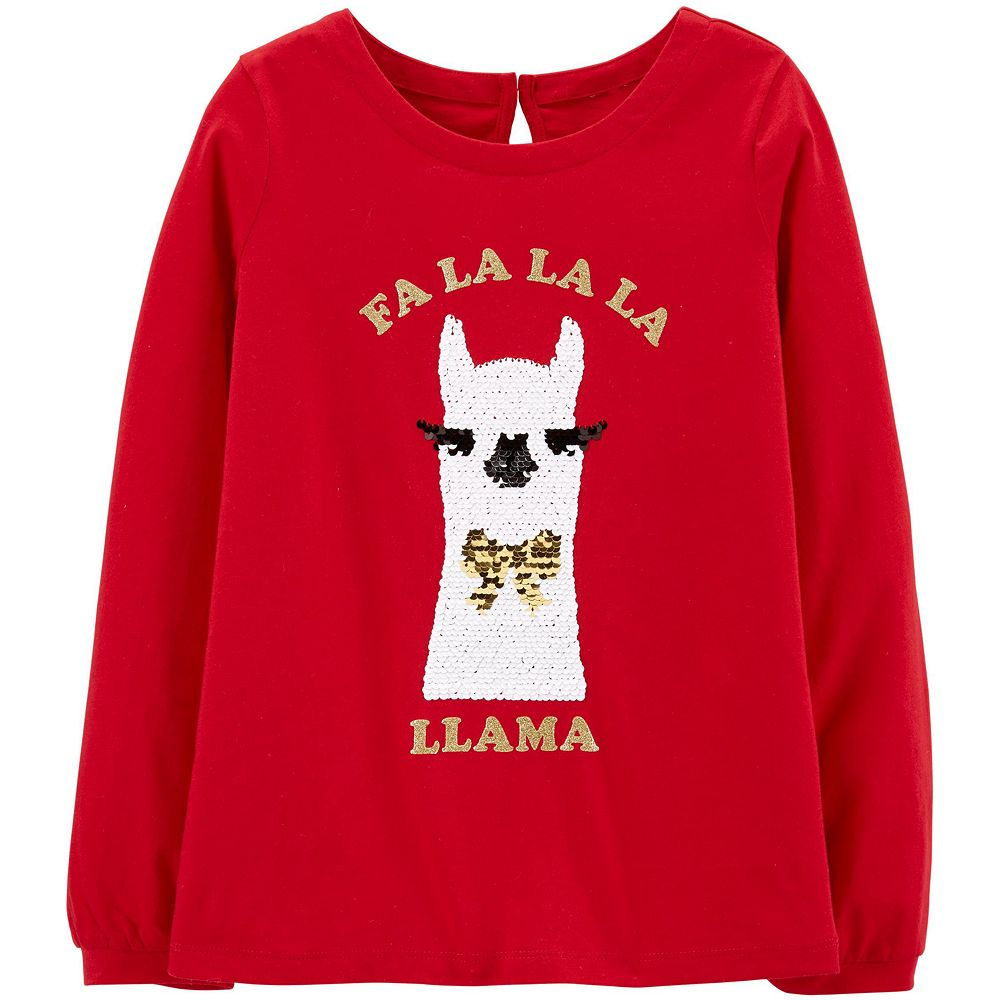 Girls 4-14 OshKosh B'gosh® Llama Flip & Reveal Sequined Top