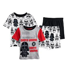 957201ce6d Boys 6-12 Star Wars Vader 4-Piece Pajama Set