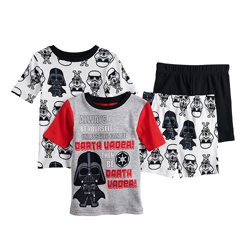 Boys 6-12 Star Wars Vader 4-Piece Pajama Set