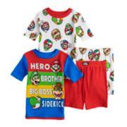 Boys 4-12 Super Mario Bros. 4-Piece Pajama Set