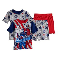 adf5be3ba Boys 4-10 Avengers 4-Piece Pajama Set