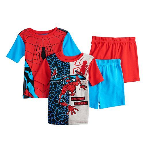 Boys 4-10 Spider-Man 4-Piece Pajama Set