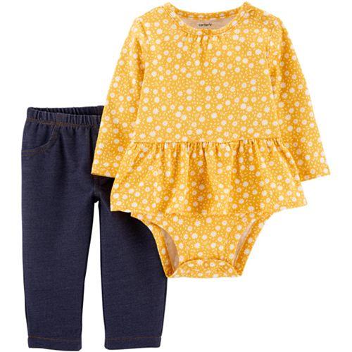 Baby Girl Carter's Peplum Bodysuit & Pants Set