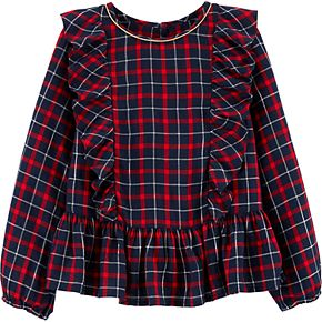 Girls 4-14 OshKosh B'gosh® Peplum Plaid Top
