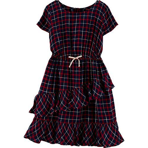 Girls 4-14 OshKosh B'gosh® Ruffle Plaid Dress