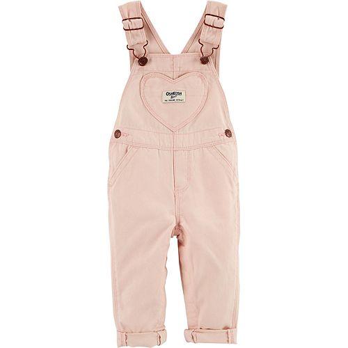 Baby Girl OshKosh B'gosh® Heart Pocket Overalls
