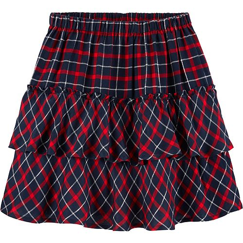 Girls 4-14 OshKosh B'gosh® Plaid Ruffle Skirt