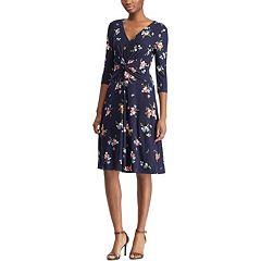 Women's Chaps Floral Twist-Front Dress