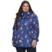 Plus Size d.e.t.a.i.l.s Parka in a Pocket Packable Anorak Jacket