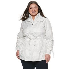 Plus Size d.e.t.a.i.l.s Parka in a Pocket Packable Anorak Jacket