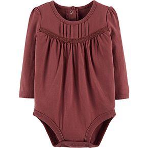 Baby Girl OshKosh B'gosh® Pintuck Bodysuit