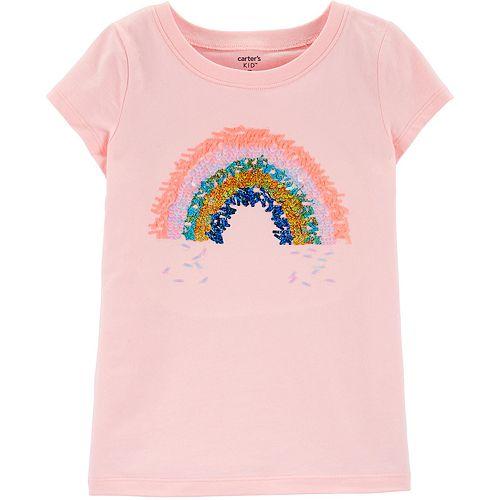 Girls 4-12 Carter's Sequin Rainbow Graphic Tee
