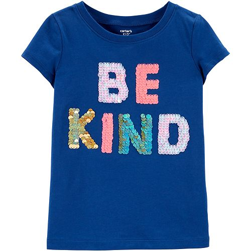 """Girls 4-12 Carter's Sequined """"Be Kind"""" Graphic Tee"""
