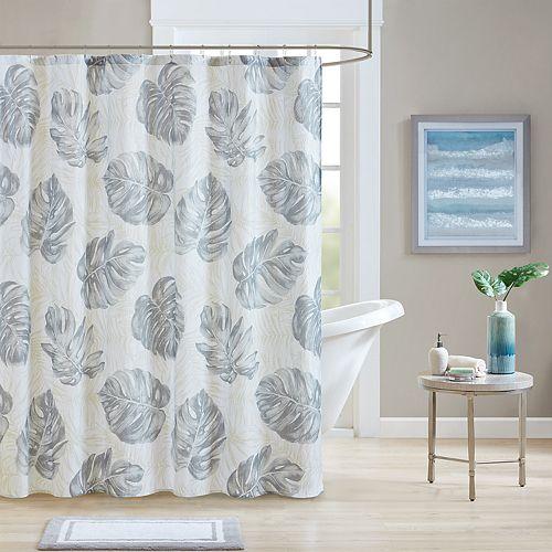 Madison Park Riviera Seersucker Shower Curtain