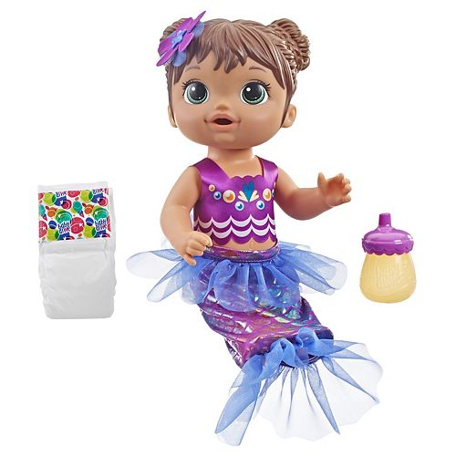 Baby Alive Shimmer n Splash Mermaid - Brown Hair