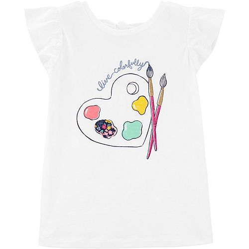 """Girls 4-12 Carter's """"Live Colorfully"""" Graphic Tee"""