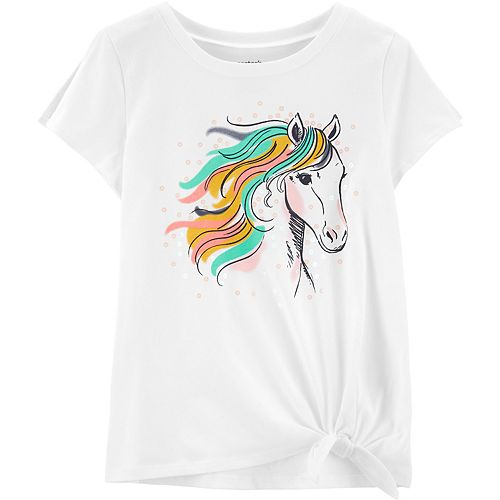 Girls 4-12 Carter's Sequined Horse Graphic Tee