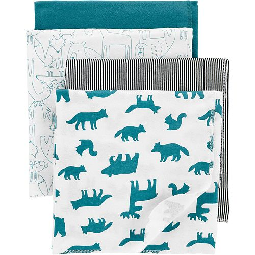 Baby Boy Carter's 4-Pack Receiving Blankets