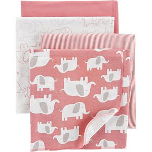 Baby Girl Carter's 4-Pack Receiving Blankets