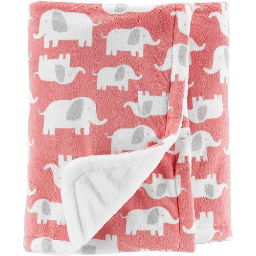 Baby Girl Carter's Elephant Plush Blanket