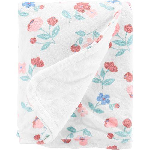 Baby Girl Carter's Floral Plush Blanket
