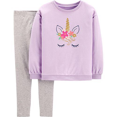 Girls 4-8 Carter's Glitter Unicorn Pullover & Legging Set