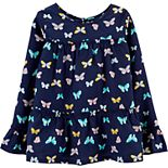 Girls 4-12 Carter's Butterfly Viscose Tiered Top