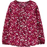 Girls 4-12 Carter's Floral Horse Viscose Top